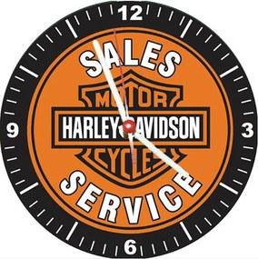 Relógio Decorativo Harley Davidson Sales Service