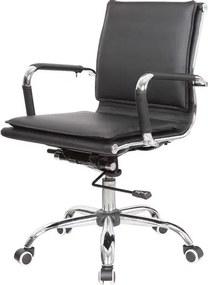 Cadeira Escritorio Eames Top Baixa Preta Base Cromada - 41002 Sun House