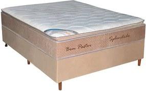 Conjunto Box Splendido Casal 138cm, com pillow, molas ensacadas - Bom Pastor Unica