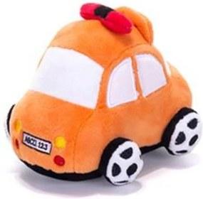 Chocalho de Pelucia Unik Toys Carro Laranja