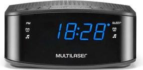 Radio Relógio Digital Alarme Despertador 3W RMS Preto Multilaser - SP288 SP288