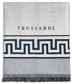 Manta Trussardi Jacquard Taranto Azzuro