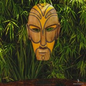 Máscara de Madeira Tribal