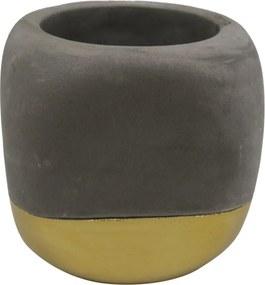 Cachepot HILARY 9cm cimento dourado ilunato GV0031