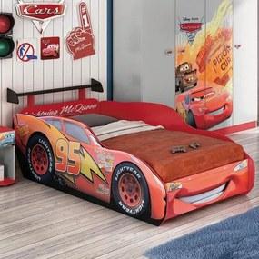 Cama Infantil Carros Disney Star com Aerofólio Preto - Pura Magia