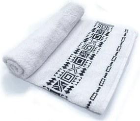Toalha De Banho Nomade  Cor Branca 75cm X 1,40m