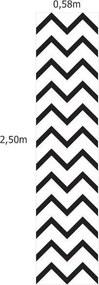 Papel De Parede Adesivo Zig Zag Preto (0,58m x 2,50m)