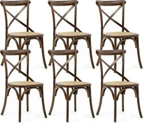 Kit 06 Cadeiras Para Sala de Jantar Cozinha Blair Canela - Gran Belo