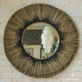 Espelho Rústico de Fibra Natural