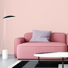 Adesivo de parede Geométrico Rosa e Branco