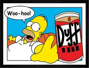 Quadro Duff Homer Woo Hoo