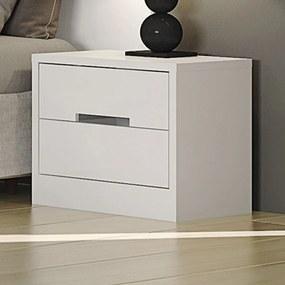Criado-Mudo 2 Gavetas Dormitório Gold S822 Branco Brilho - Kappesberg