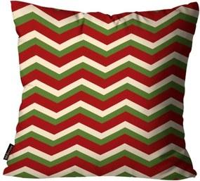 Capa para Almofada Mdecore Natal Chevron Bege 45x45cm