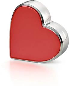 Coração BENCAFIL 12X4 X12 Cm Vermelho/Prata