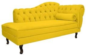 Recamier Diana 140cm Lado Esquerdo Corano Amarelo - ADJ Decor