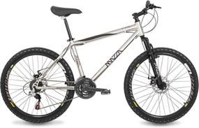 Bicicleta Mazza Bikes Fire - Aro 26 Disco - 24 Marchas MZZ-600 Prata