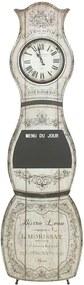 Relógio de Chão com Quadro Negro Bege e Preto Oldway - 145x43x3,5 cm