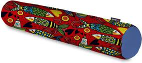 Rolo Decorativo Pump UP Estampa Peixes Barcos e Corações Grande 128x12 cm Vermelho