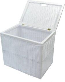 Cesto Bau Organizador fibra sintetica Design 60x40x48 Branco