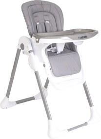 Cadeira De AlimentaçÁo Smile Cinza Com Branco