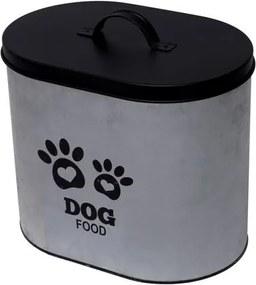 Pote de Ração em Metal 30cm com Tampa Dog Food