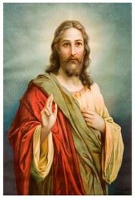 Quadro Decorativo Jesus Cristo - KF 48198 40x60 (Moldura 520)