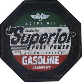 Placa Kasa Ideia Gasoline 30cm