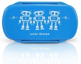 Pote para Lanche Infantil Robô Jacki Design Sapeka Azul Claro