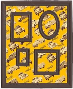 Quadro Magnético para Retratos Coca-Cola All Trucks Amarelo - Urban