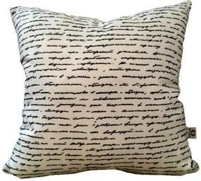 Almofada Manuscrito 40x40cm Cosi Dimora