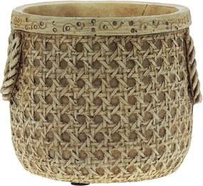 Vaso Decorativo de Cimento Palha Marcel M