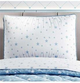 Capa Travesseiro Infantil Branco Estrelas Grão de