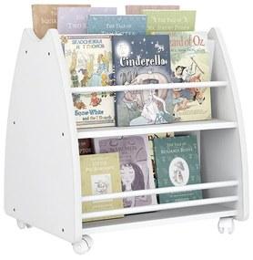 Porta Livros Infantil Abraço De Mãe Com 4 Rodízios - Branco