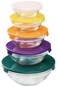 Jogo Bowls De Vidro C/Tampa Plástica Sortido 25622 Bon Gourmet