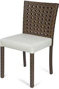 Cadeira Fontana Revestida em Fibra Sintetica e Assento cor Branco com Base Aluminio - 44540 Sun House