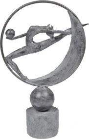 escultura DOS SANTOS resina 42cm Ilunato NA0534