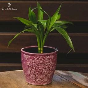 Vaso Decorativo em Ceramica Roxo
