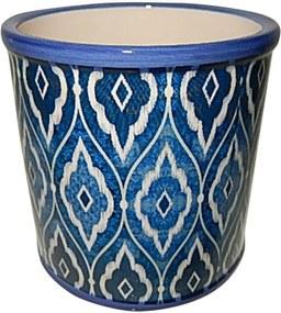 Cachepot Urban Home de Cerâmica Azul Marroquino Grande n