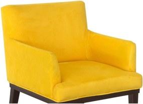 Poltrona para Sala de Estar e Escritório Vitória Suede Amarelo Jm Estofados