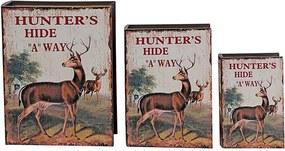 Conjunto com 3 Caixas Livo Hunters Hide Alce