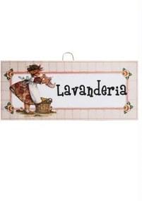 QUADRO LAVANDERIA 28 X 13 CM