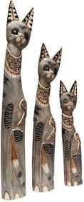 Trio Gatos Decorativos de Bali