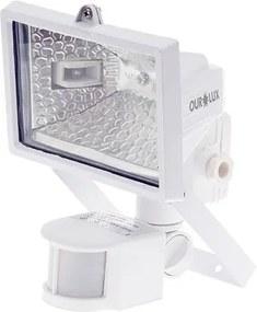 Refletor de Lâmpada Halógena 150W Branco Sensor Ourolux 01502