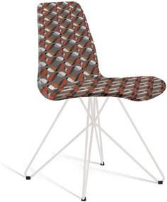 Cadeira Eames Base Aço Carbono Daf Colorido Cinza