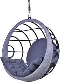 Poltrona de Balanco Bowl em Aluminio Revestido em Corda cor Azul - 45200 Sun House