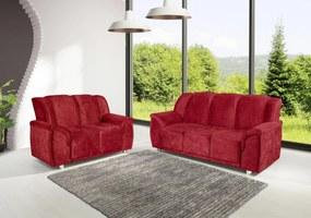 Conjunto de Sofá Quality 3 e 2 Lugares Tecido Suede Amassado Vermelho - Hellen