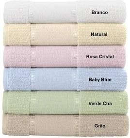 Toalha Para Bordar Karsten Ligia III - Cor: Baby blue - Tamanho: Banho 67 x 140 cm - Karsten
