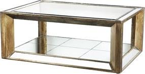 Mesa de Centro em Madeira com Revestimento Espelhado - 53x90x130cm