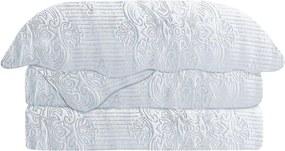 Colcha Matelasse Solteiro Damask Branco Camesa 160x230cm