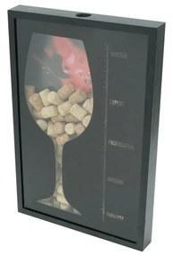 Quadro Madeira Porta Rolhas Vinhos 32x20x5cm 12912 Woodart